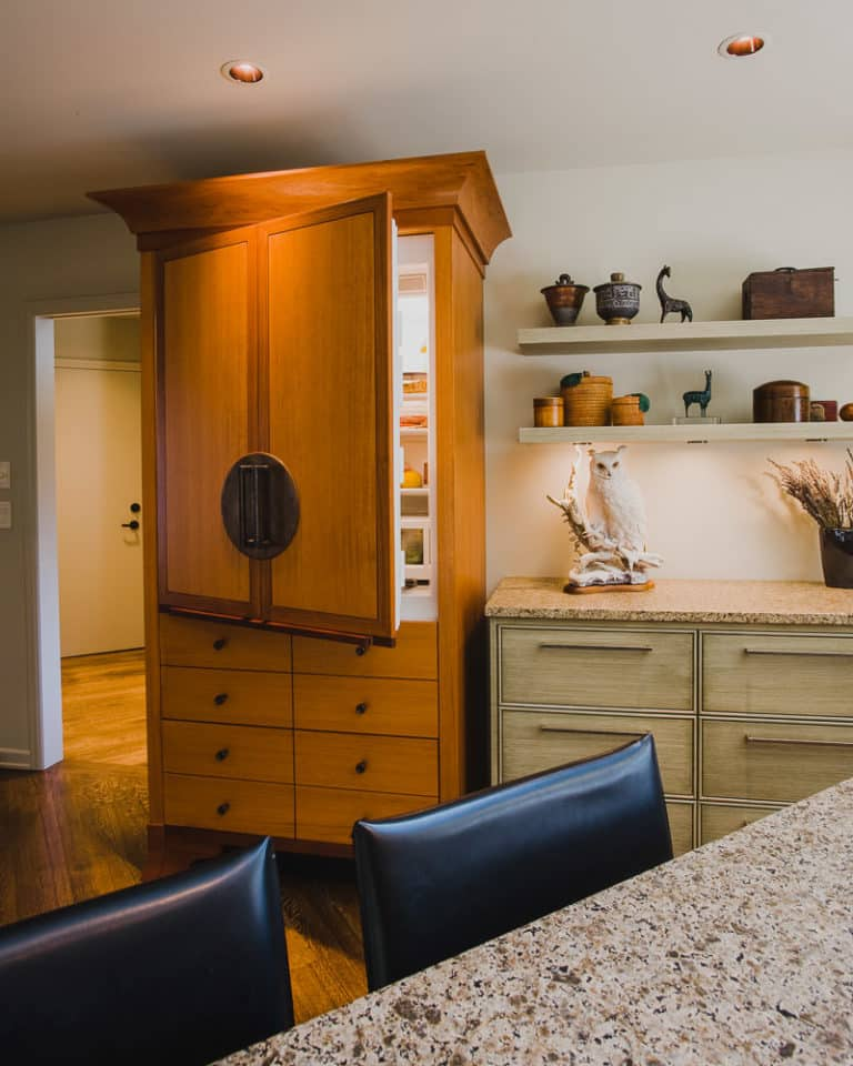 Charbeneau Oregon | Custom Refrigerator Cabinetry