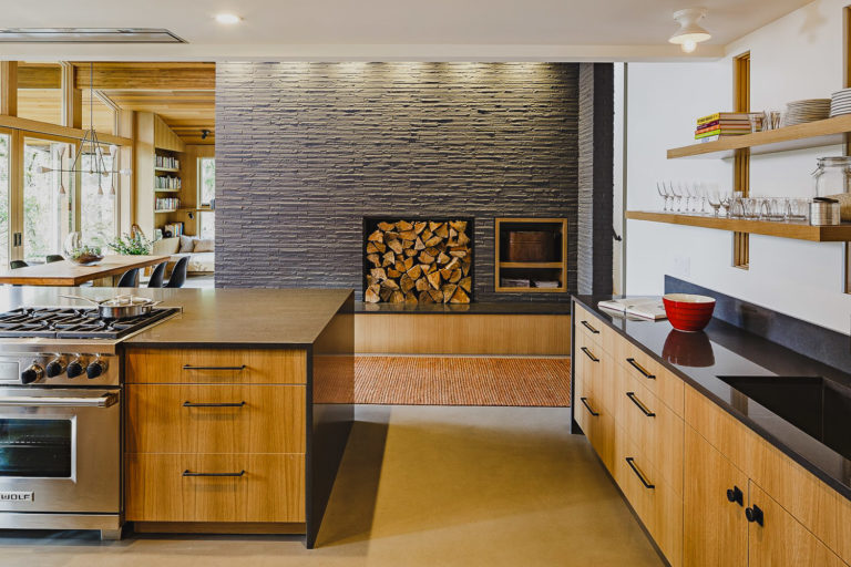 Lake Oswego Oregon | Modern Cabinetry - Waterfall Granite