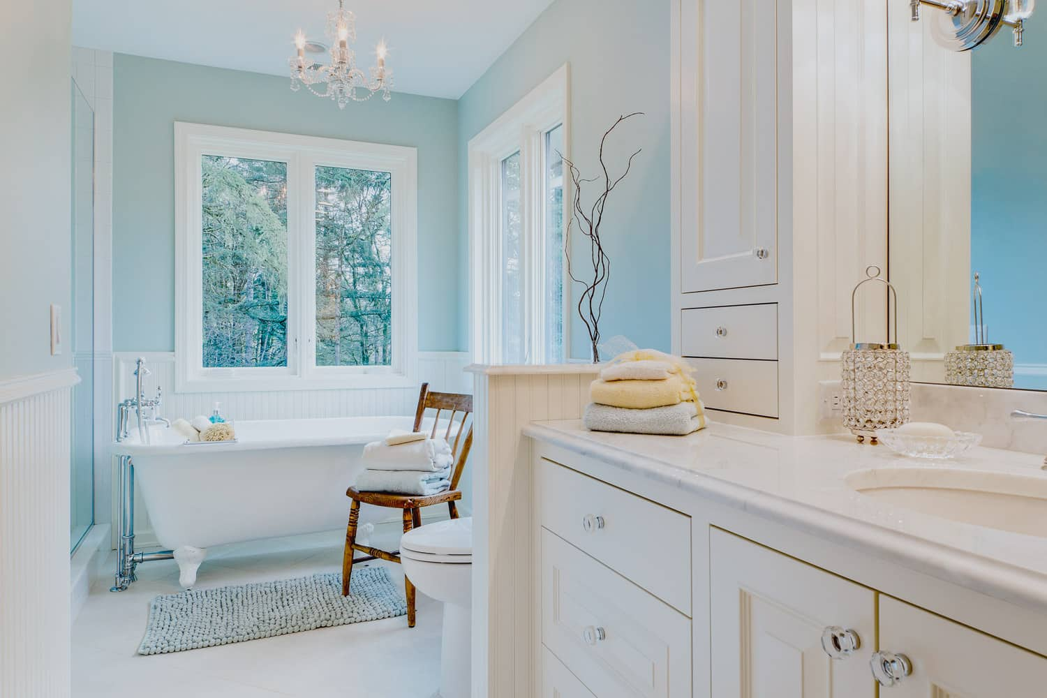 Salem Oregon | Bathroom Remodel, Modern White